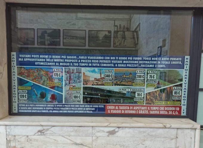 """Turismo, a Viareggio taxi offronoservizi da noleggio con conducente: """"Illegale, rimuovere subito la pubblicità"""""""