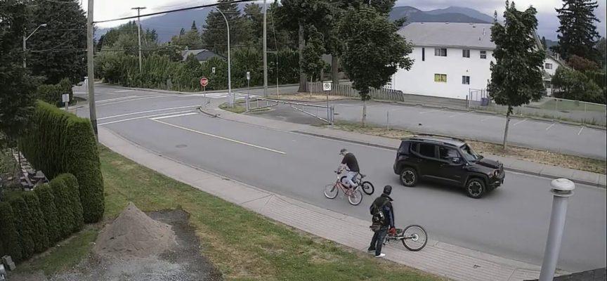 """Ladro di biciclette inseguito e bloccato dal proprietario in bicicletta che lo investe – VIDEOIl delinquente è anche finito a terra con il """"bottino"""""""