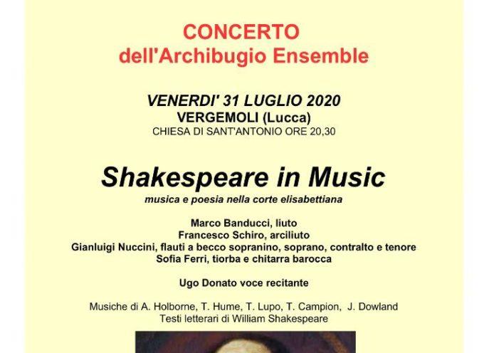 Shakespeare in Music – Concerti a Vergemoli e Cascio