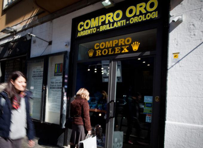 Sempre più italiani si rivolgono a credito su pegno e compro oro