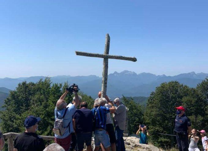 il cambio della croce a san pellegrino in alpe oggi 1 agosto