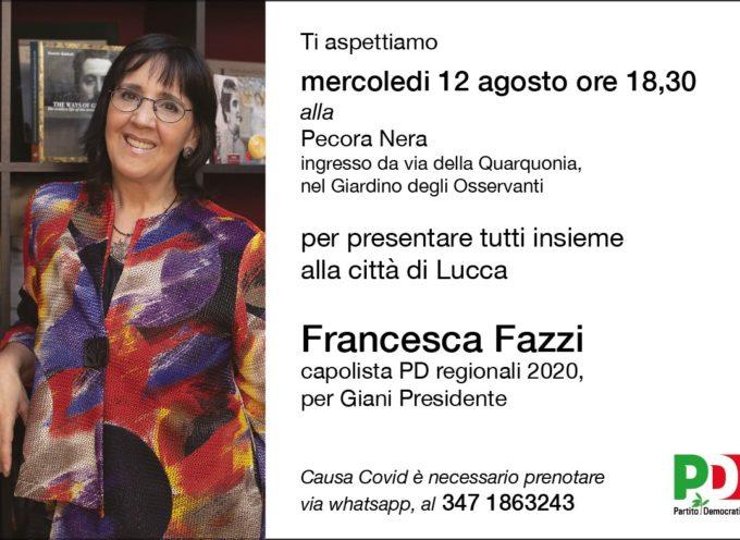 Francesca Fazzi Capolista PD alle regionali 2020 incontra amici e simpatizzanti alla Pecora Nera