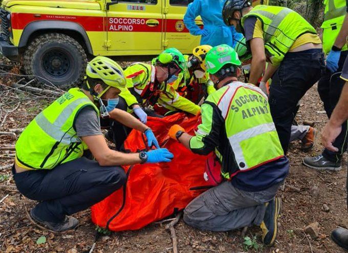 Il Soccorso Alpino Toscano è stato attivato stamani intorno alle 7.30 per un'escursionista colpita da un malore nel comune di San Marcello Piteglio (PT).