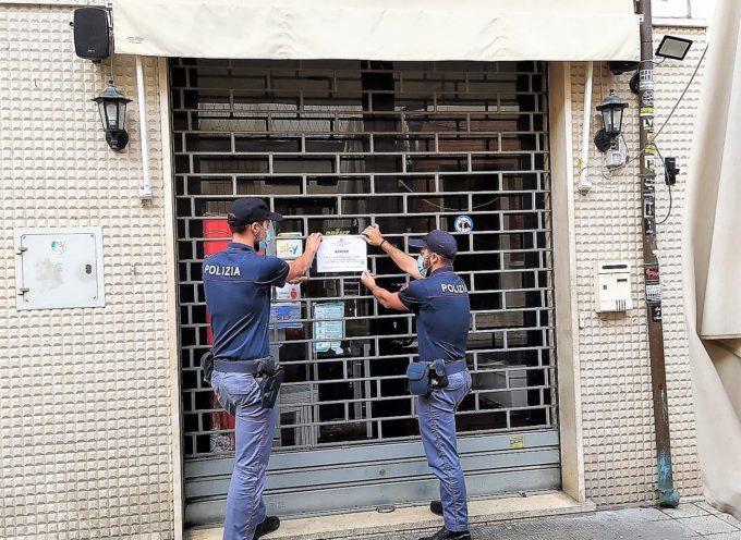 Sospese, per dieci giorni, le autorizzazioni amministrative di somministrazione di alimenti e bevande ad un esercizio pubblico, un bar, di Viareggio.