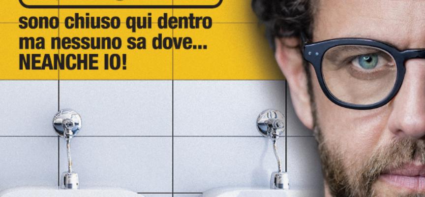 """Gabriele Pignotta in scena al Festival La Versiliana con l'originalissima commedia """"Toilet"""" uno spettacolo pop e al tempo stesso innovativo"""