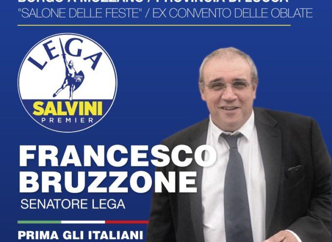 """il senatore """"Lega Salvini Premier"""" Francesco Bruzzone, –  a borgo  a mozzano"""