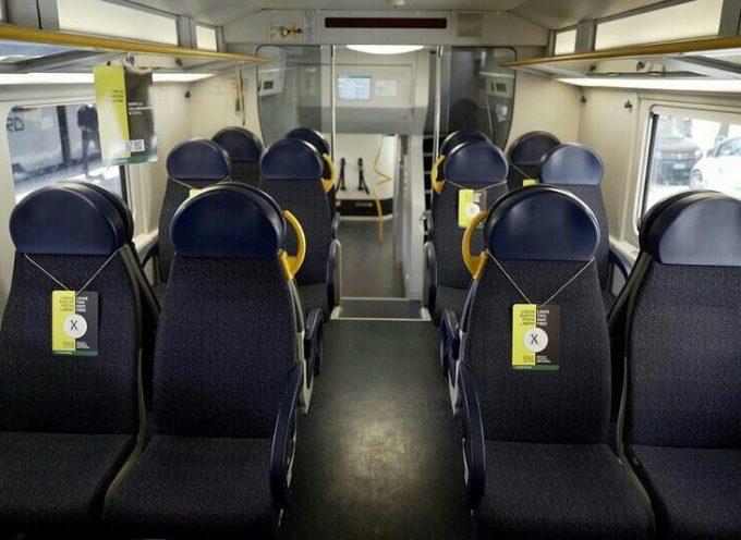 Nuova ordinanza su Tpl e treni regionali: obbligatorio il distanziamento di un metro