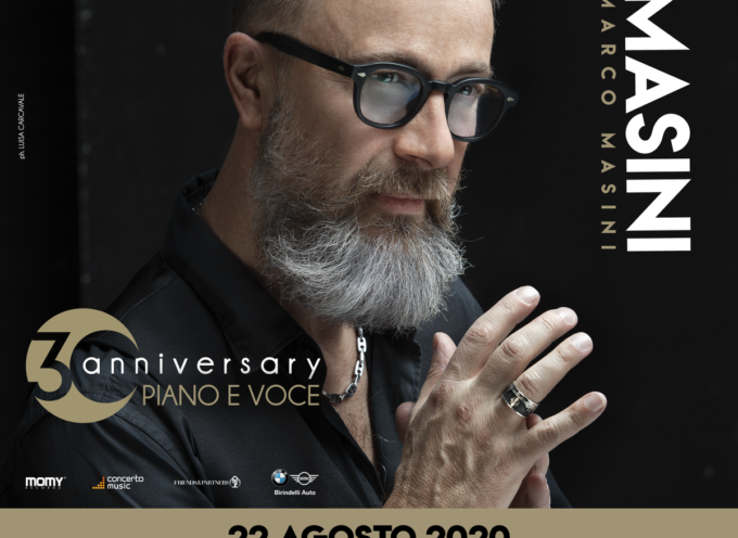 Marco Masini Live L'artista toscano in concerto a Villa Bertelli Forte dei Marmi