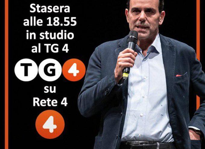 IL SENATORE ANDREA MARCUCCI STASERA SU TG4 ORE 18.55