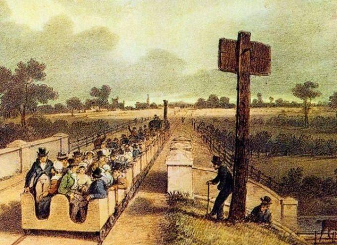 15 settembre 1830, fu inaugurata la prima linea ferroviaria del mondo,