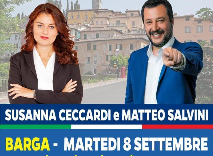 MATTEO SALVINI SARA' A BARGA MARTEDI 8 SETTEMBRE