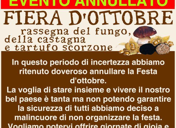 CASTIGLIONE DI GARFAGNANA – In questo periodo di incertezza abbiamo ritenuto doveroso annullare la Festa d'ottobre.