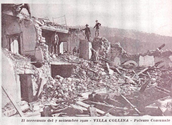 IL TERREMOTO – 7 SETTEMBRE 1920, ORE 7,46 E 32 SECONDI, APPENA 100 ANNI FA