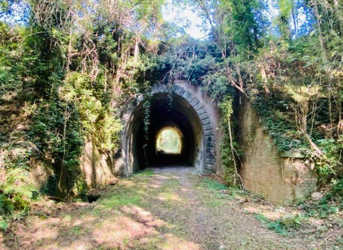 Un tempo il treno passava di qua, proprio sotto al torrente Visona di Castelvecchio di Compito