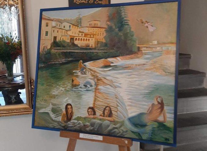 Mostra presso l'Hotel Corona a Ponte a Serraglio.. Bagni di Lucca