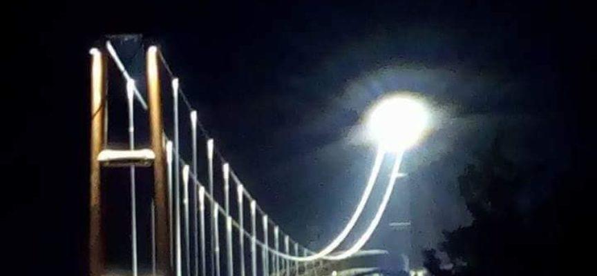 VAGLI DI SOTTO – Oggi , di nuovo sul ponte a funi sospeso, nonostante la pandemia covid in questo 2020