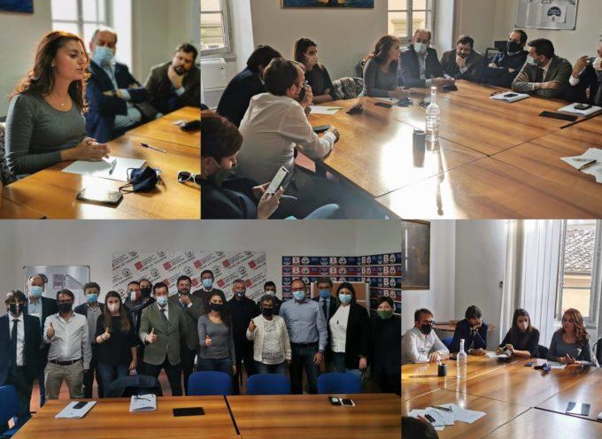 Oggi a Firenze nel Palazzo del Consiglio Regionale ci siamo riuniti con tutti i consiglieri regionali della Lega, Fratelli d'Italia e Forza Italia.