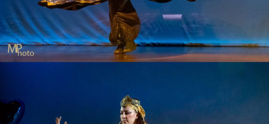 La danza tanoura protagonista al finissage della mostra Viaggi straordinari di Aldo Mondino Performance della ballerina Aura Mayra