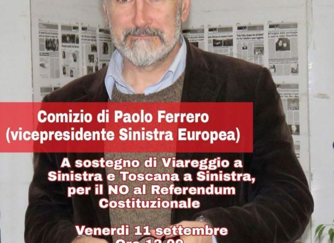 Domani a Viareggio Paolo Ferrero, segretario nazionale di Rifondazione