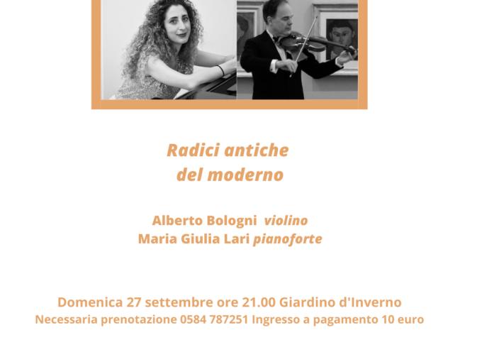 VILLA BERTELI – Il violino di Alberto Bologni in concerto alla rassegna Sentieri Musicali