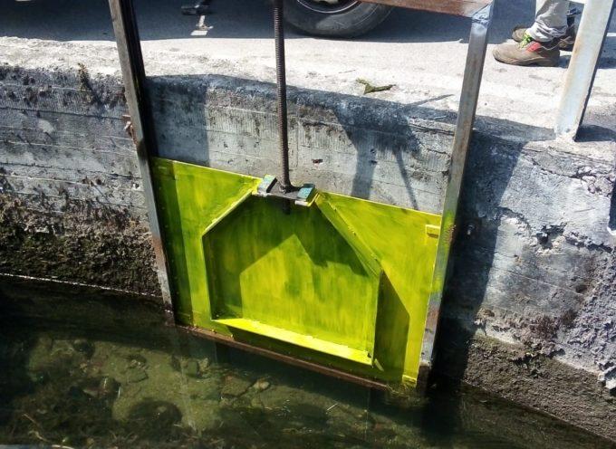 Il canale Fanuccio a Tempagnano ha una nuova paratoia