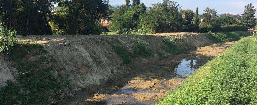 Porcari, ripulito dai sedimenti un tratto del rio Leccio