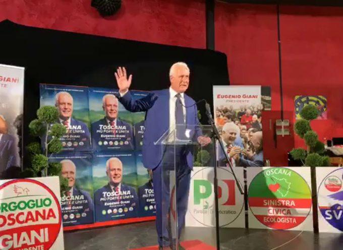 Eugenio Giani nuovo Presidente della Regione Toscana: stacco netto su Ceccardi