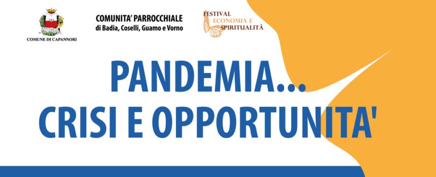 alla chiesa di Guamo un ciclo di incontri e riflessioni sul tema 'Pandemia…crisi e opportunità'