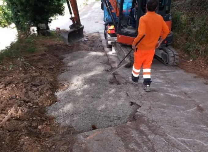 Strettoia: nuovi interventi in via Montebello, via radici e buche pericolose su strada a grande pendenza