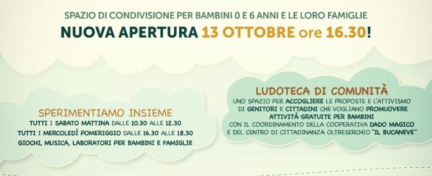 Ripartono le attività del progetto Lucca  alla Ludoteca di comunità presso il centro Il Bucaneve di Santa Maria a Colle,