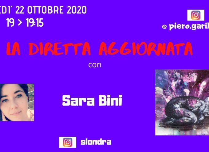 """IL CARATTERE DELLA PITTURA DI SARA BINI A """"LA DIRETTA AGGIORNATA"""""""
