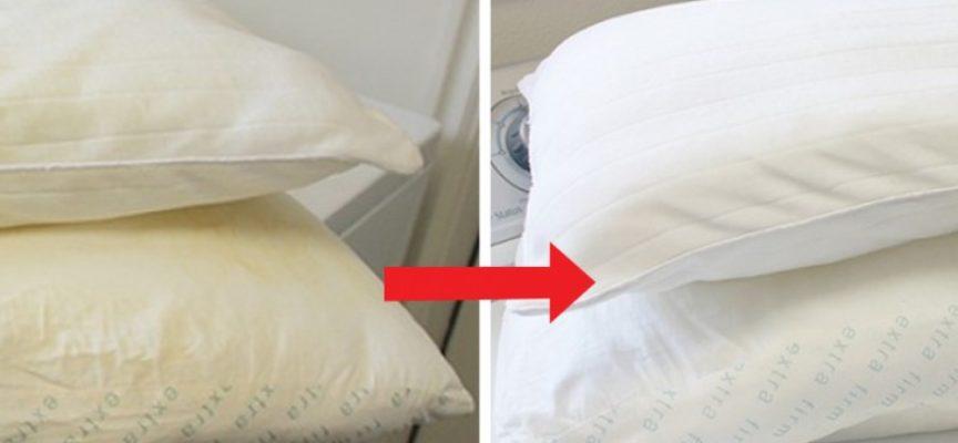 5 rimedi casalinghi per sbiancare i cuscini ingialliti e igienizzarli senza spendere troppo
