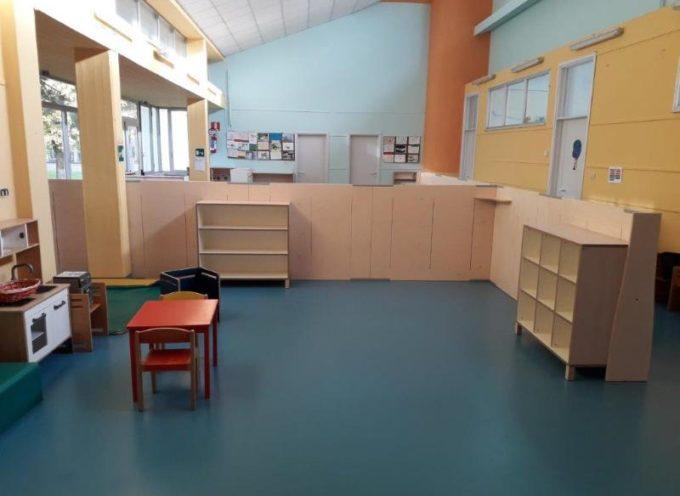 PIETRASANTA – arredi anti-Covid nelle scuole dell'infanzia, nuovi spazi e distanziamento per ridurre rischio contagio