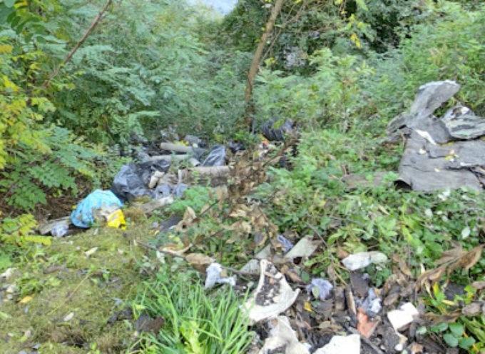 Lanciano rifiuti dalla strada sul fiume, scoperta impressionante discarica