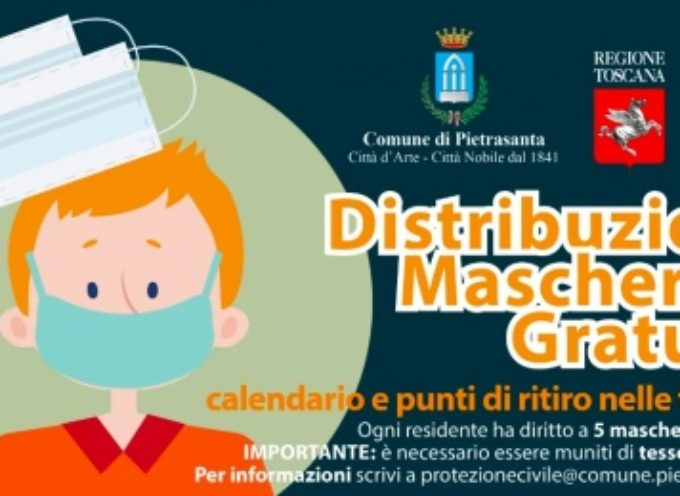 PIETRASANTA – distribuisce 123 mila mascherine (5 per ogni residente)