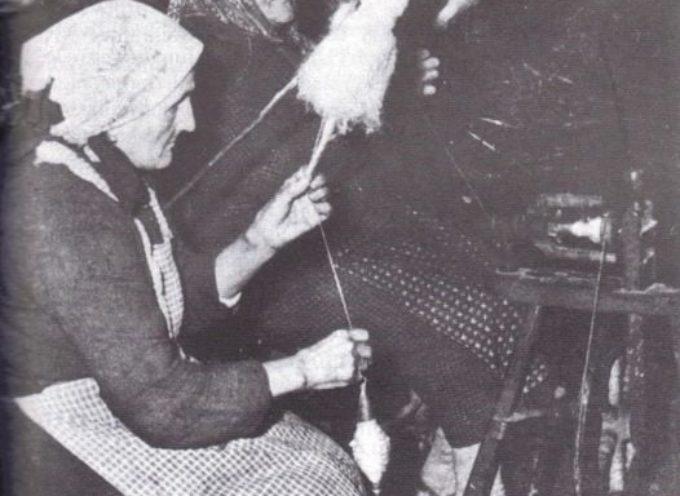 Novembre e dicembre erano mesi dedicati alla filatura.