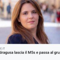 CONTINUA LA FUGA DAL   M5S  – ELISA SIRACUSA LASCIA