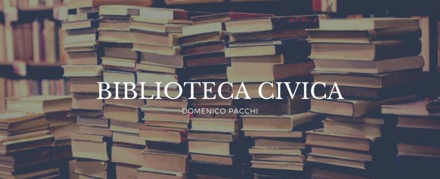 """Nasce la pagina Facebook della Biblioteca Civica """"D. Pacchi""""."""