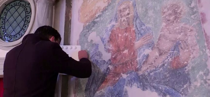 Prosegue l'opera di restauro della madonne dei Ferri a Borgo a Mozzano