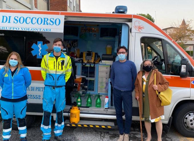 DONATI –  quattro nebulizzatori e prodotti sanificanti per la Misericordia di Marina di Pietrasanta,