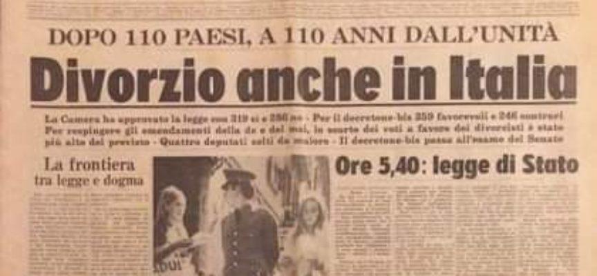 Il 1 dicembre di 50 anni fa passava la legge sul divorzio.