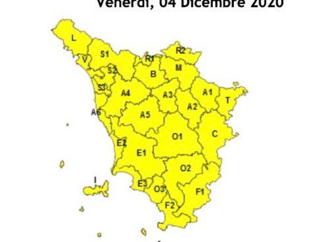 ALLERTA GIALLA FINO A DOMANI 5 DICEMBRE
