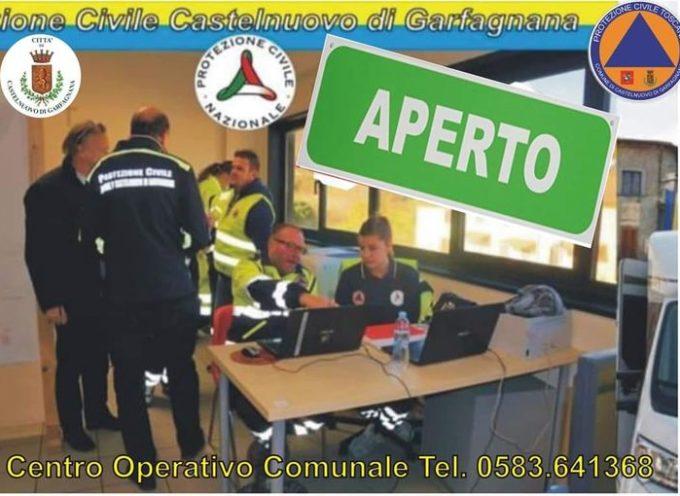 rimane attivo e presidiato anche per la notte il Centro Operativo Comunale di Castelnuovo.
