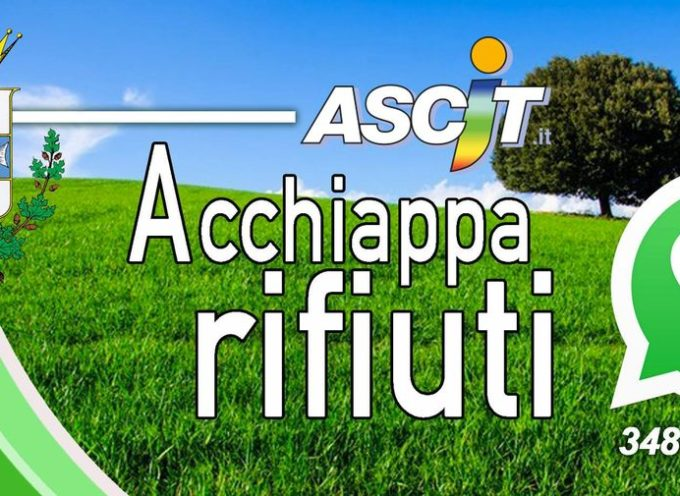 "Arriva a Pescaglia ""Acchiapparifiuti""."