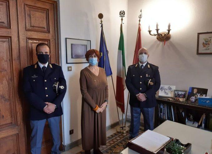 il Questore Alessandra Faranda Cordella ha  ricevuto i  Vice Ispettori Andrea Boschetti e Christian Perotti, in forza alla questura di lucca
