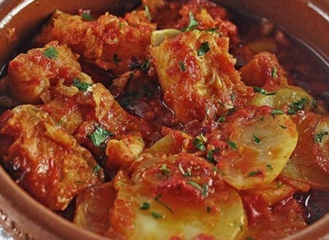 Le ricette di stagione: baccalà in umido con patate .