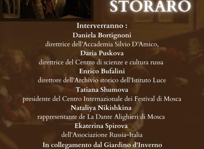 Vittorio Storaro a Villa Bertelli per il Premio Pavlova 2020