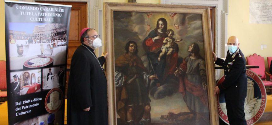 I Carabinieri per la Tutela del Patrimonio Culturale restituiscono alla Diocesi di Lucca prezioso dipinto del Seicento