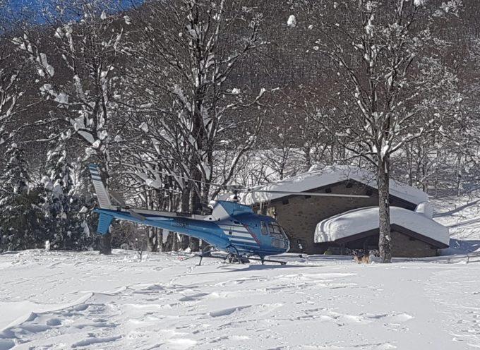 san pellegrino in alpe – il rifugio il burigone raggiunto in elicottero
