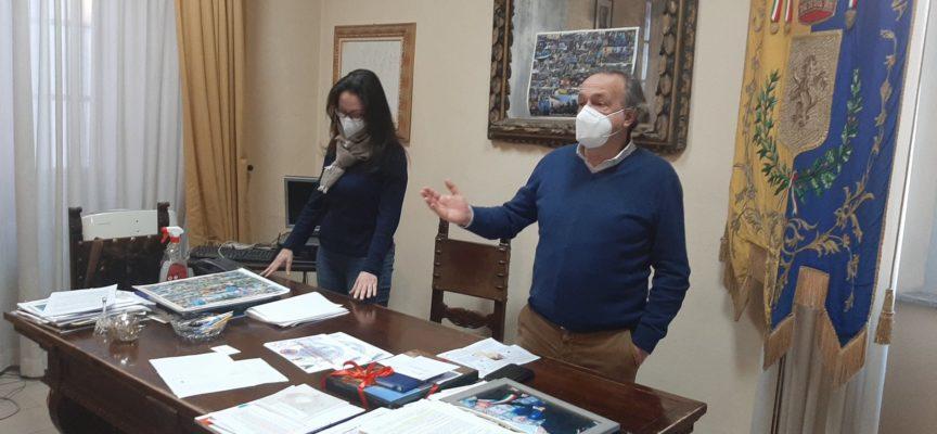incontro alla protezione civile di castelnuovo  con i 4 operatori del servizio civile